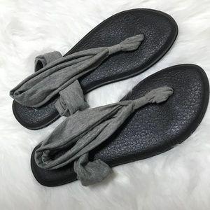 Sanuk Yoga Sling Metallic Flip Flops